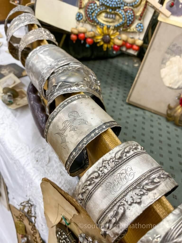 silver handmade vintage cuffs
