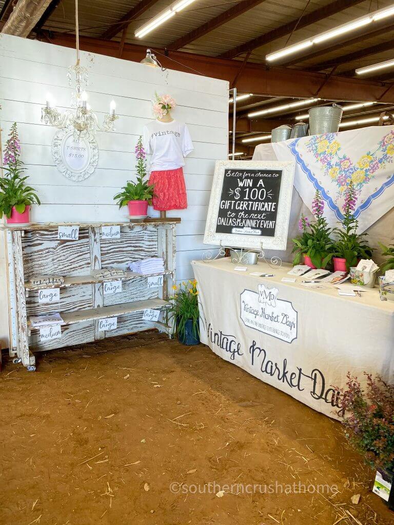 giveaways at Vintage Market Days of McKinney TX