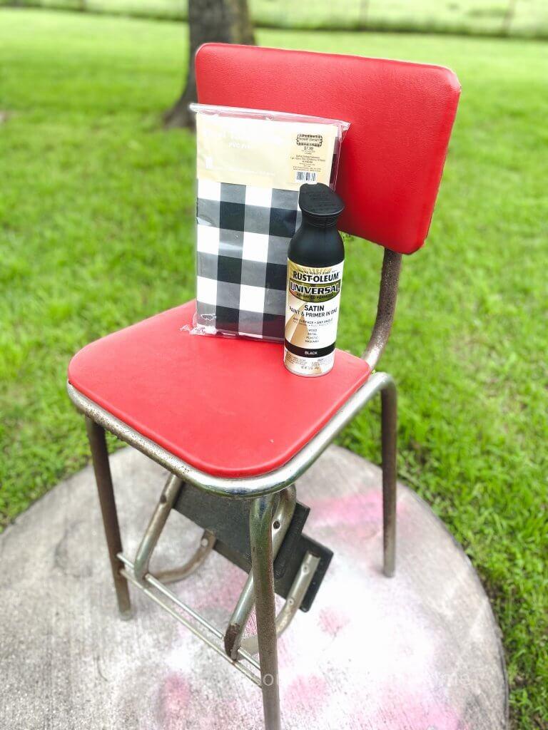Vintage Step Stool Makeover supplies