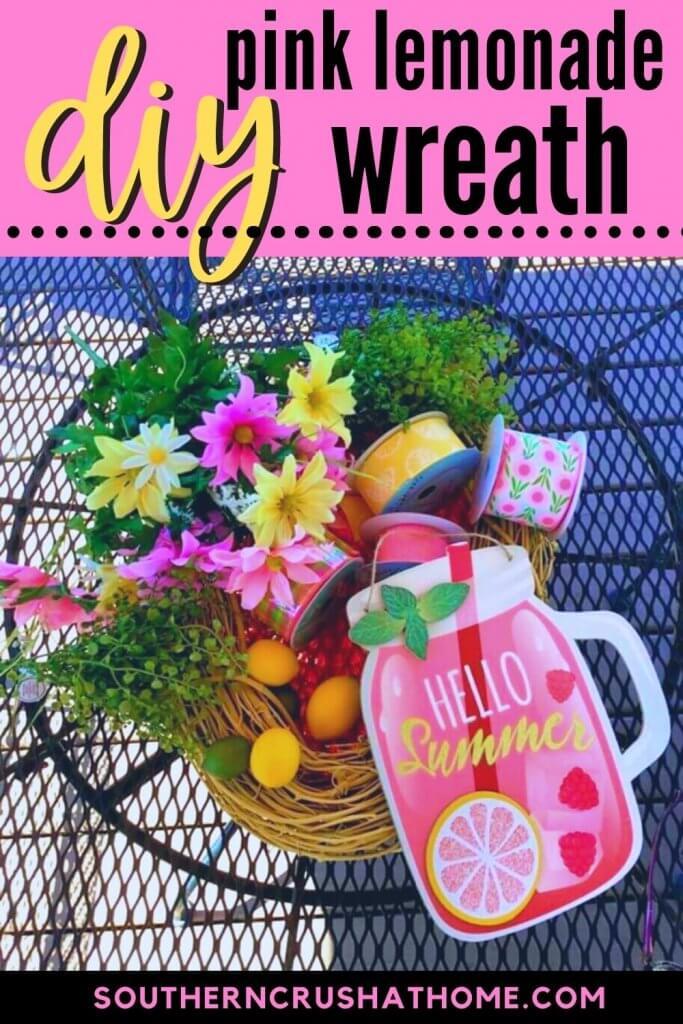 summer lemonade wreath supplies