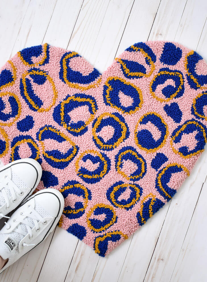 crochet rug with free pattern
