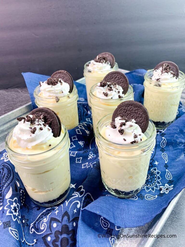 Oreo cheesecake pudding