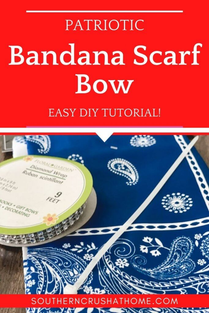 HOW TO MAKE An Easy DIY Bandana Scarf Bow pin image