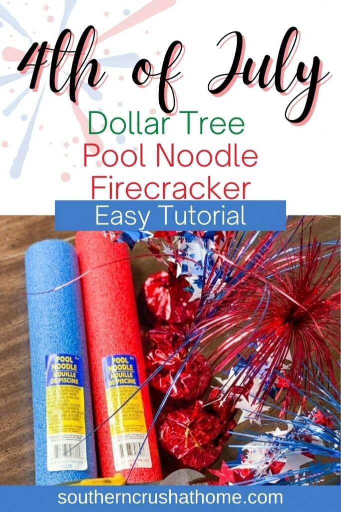 pool noodle firecracker