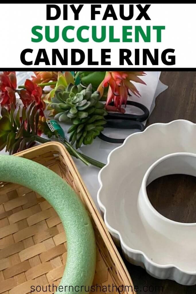 succulent candle ring pin image