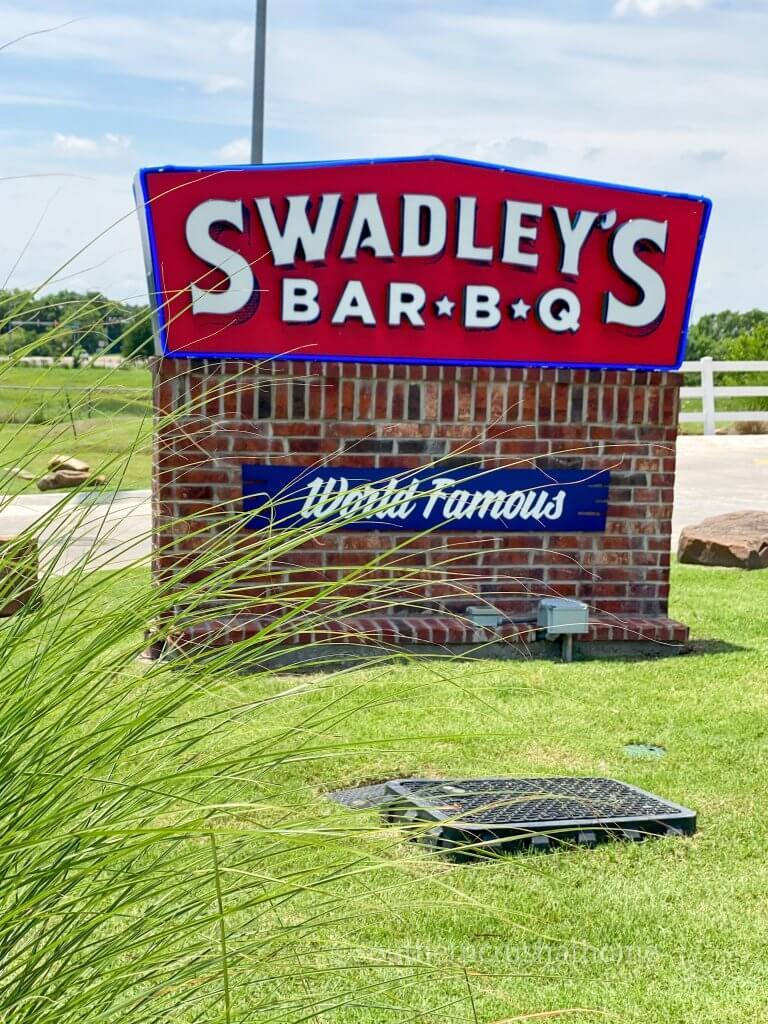 swadleys bar b q sign in ardmore ok