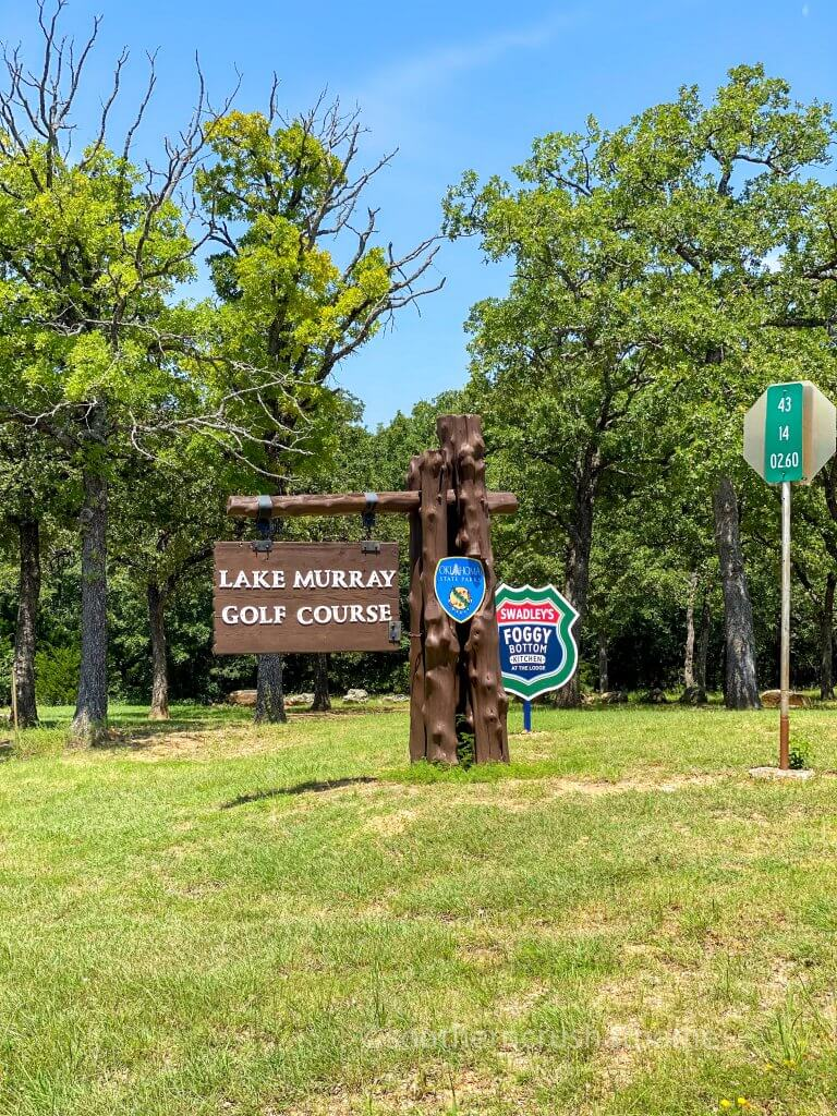 lake murray golf course sign