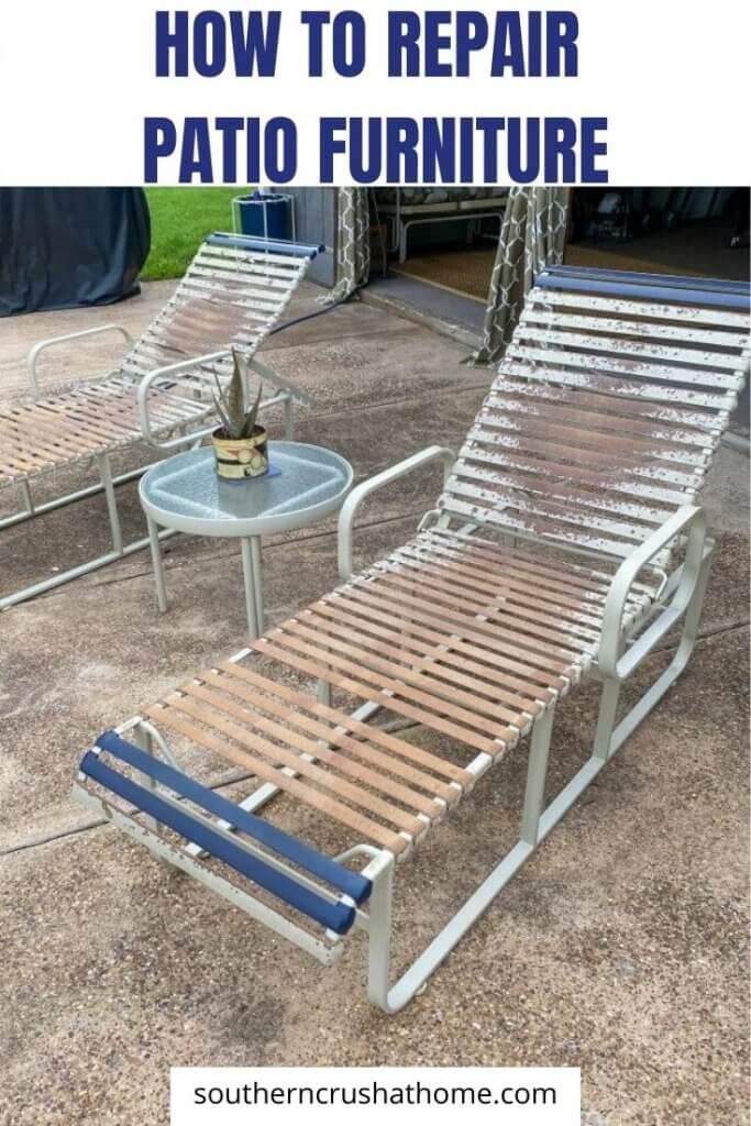 repair patio furniture pin image