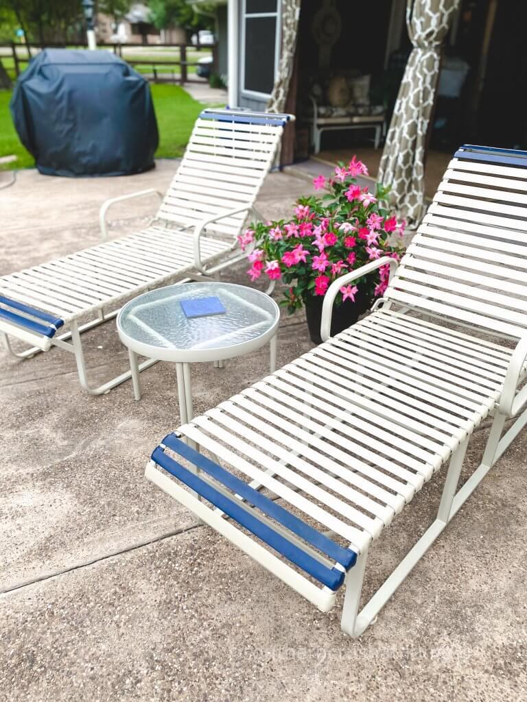 repair pool patio furniture