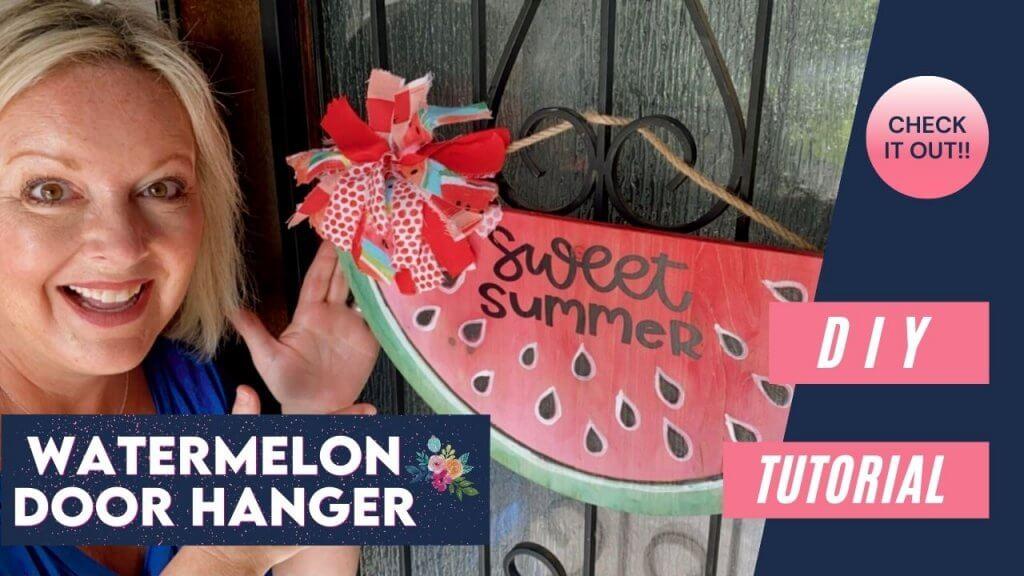 watermelon door hanger diy
