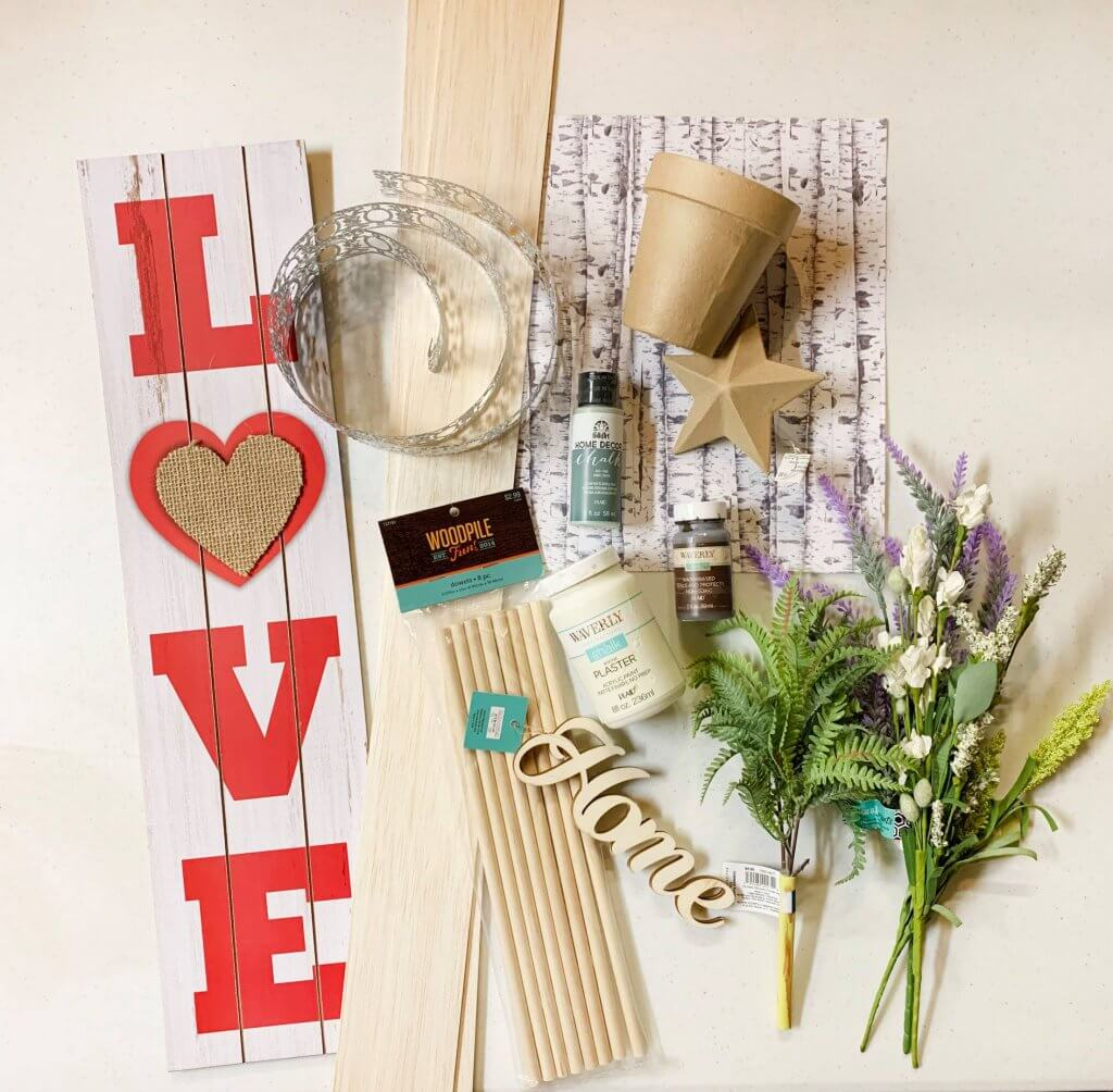 supplies for shiplap sign