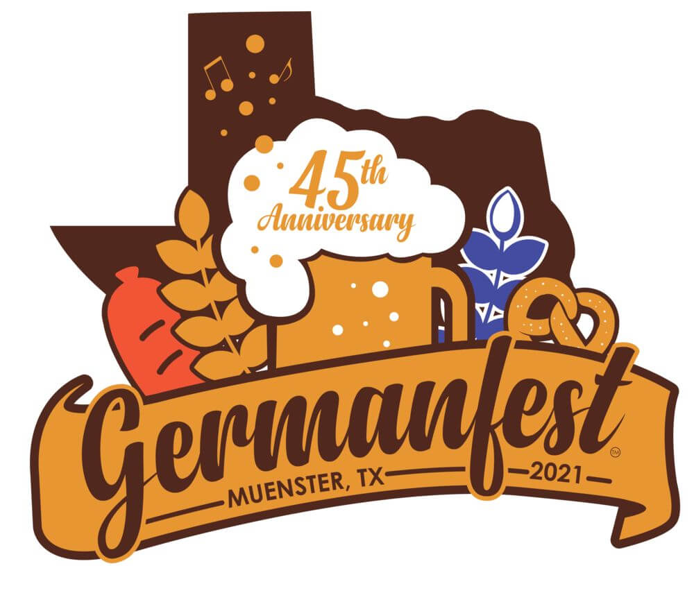 germanfest logo in muenster tx
