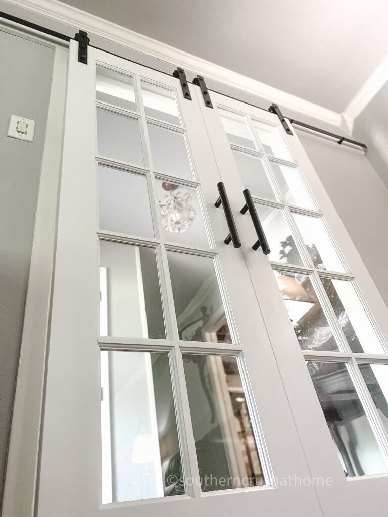 base view of french barn doors