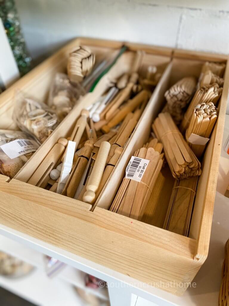 clothespins and craft sticks