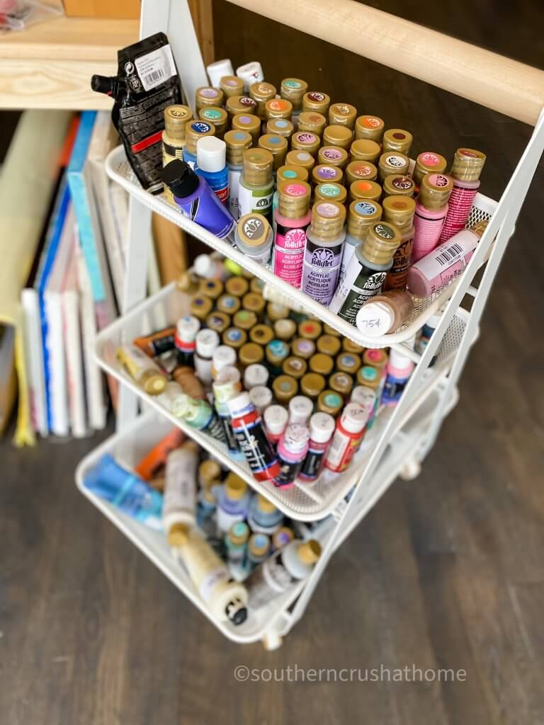 assorted craft paints