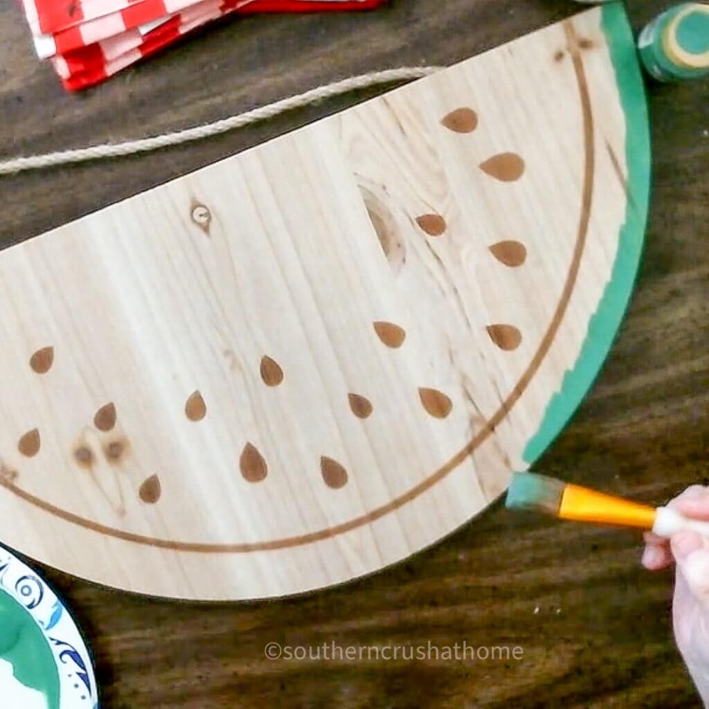 painting watermelon