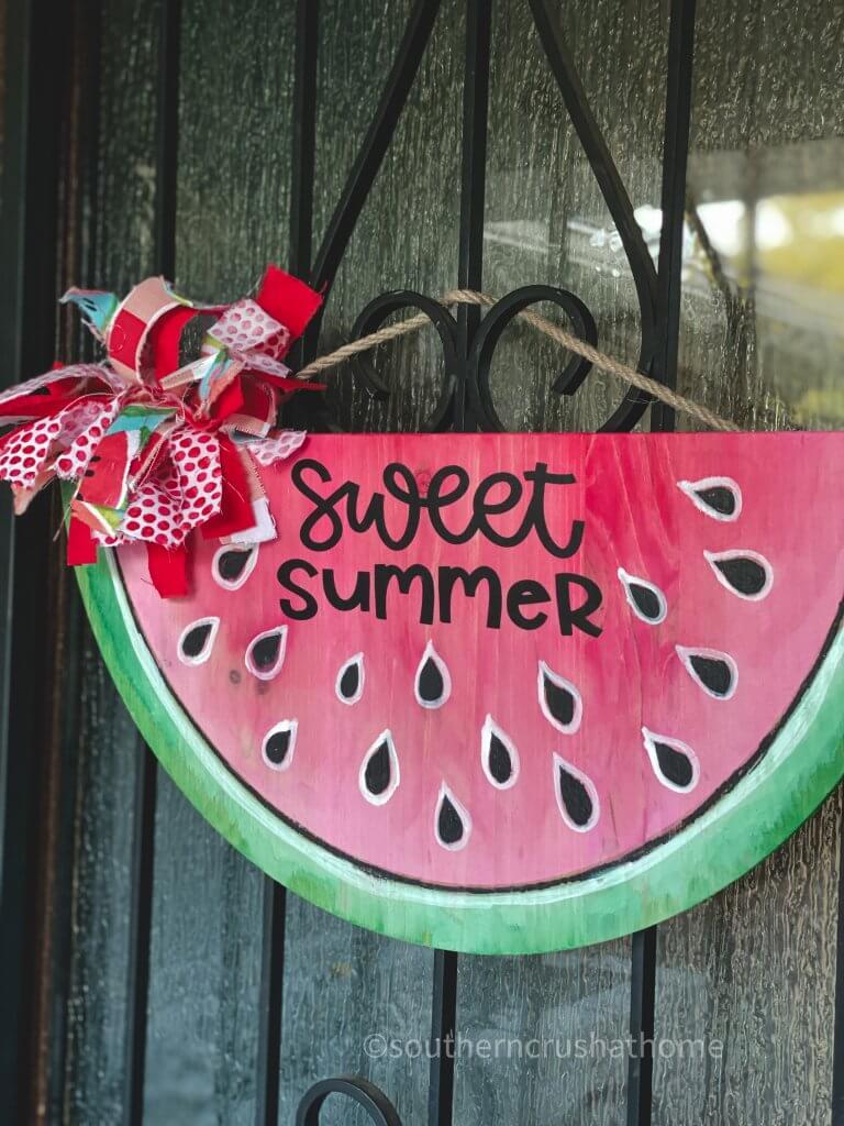 watermelon door hanger on door