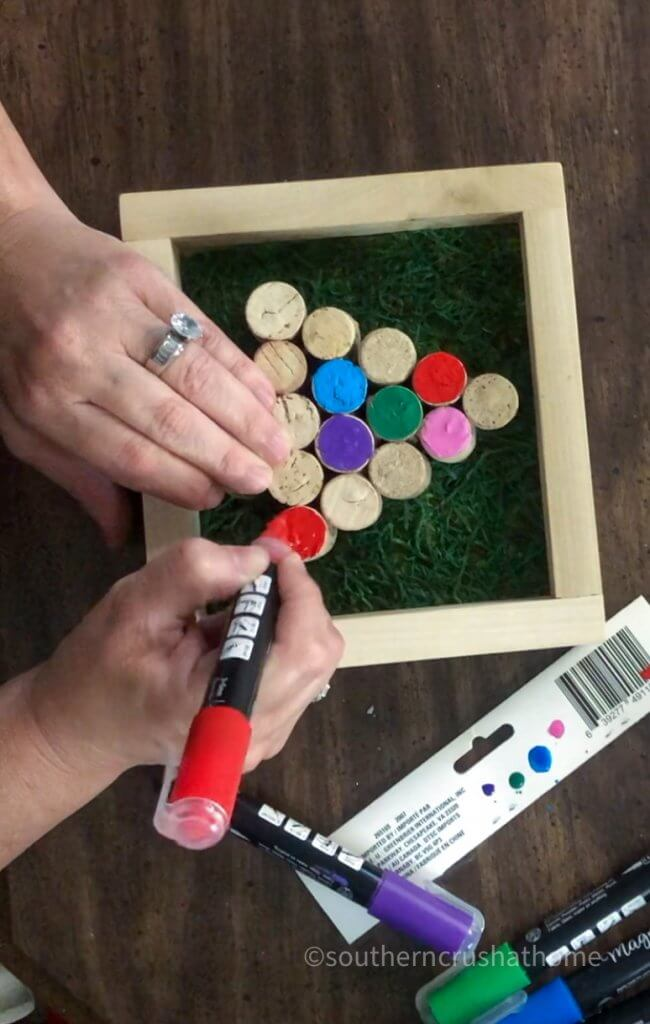 using sharpies to paint tree