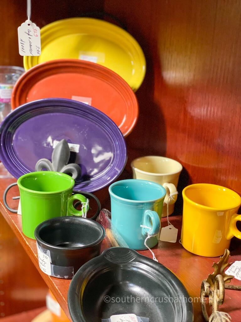 colorful fiesta ware display