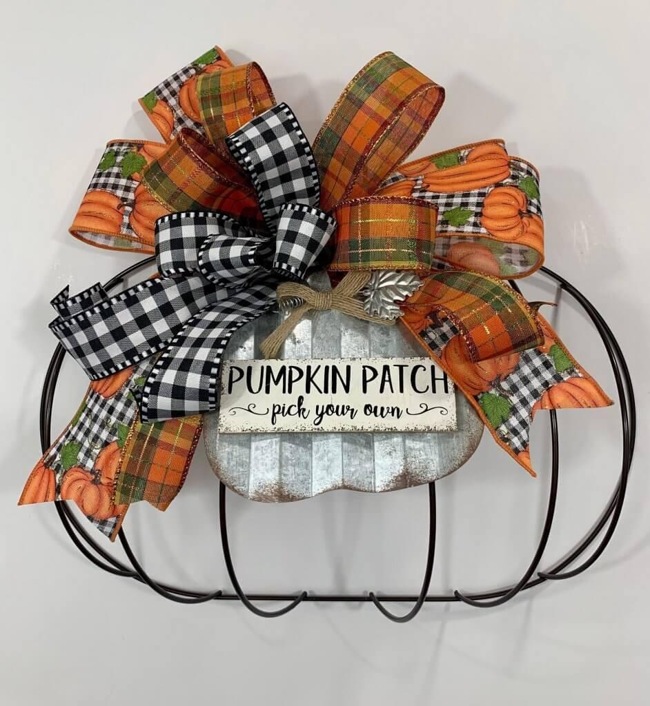 pumpkin patch dollar tree pumpkin wreath