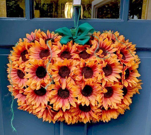 sunflower dollar tree pumpkin