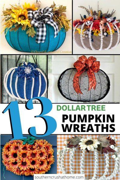 Dollar Tree Pumpkin Wreaths PIN