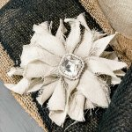 drop cloth messy bow on gift