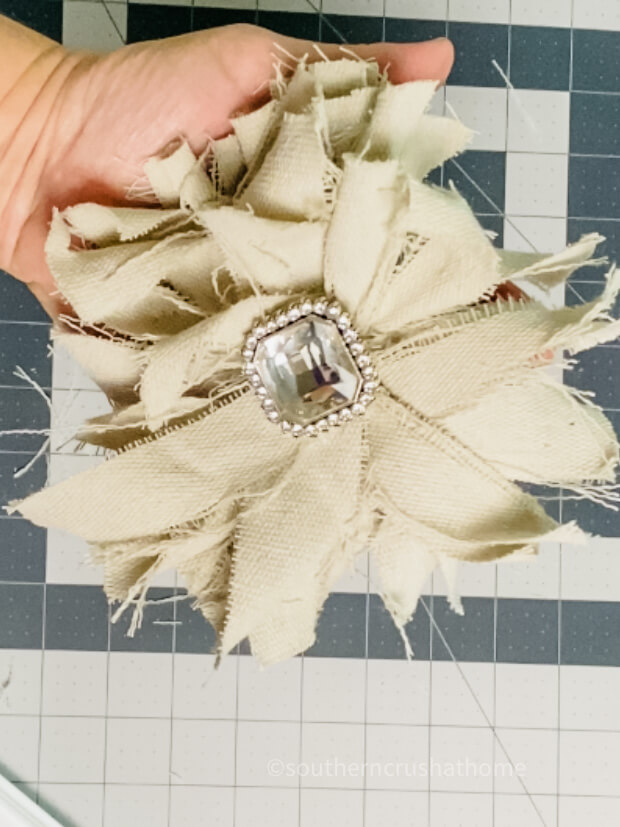 finished drop cloth messy bow