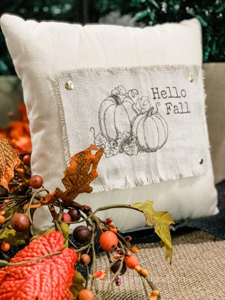 drop cloth decor pillow