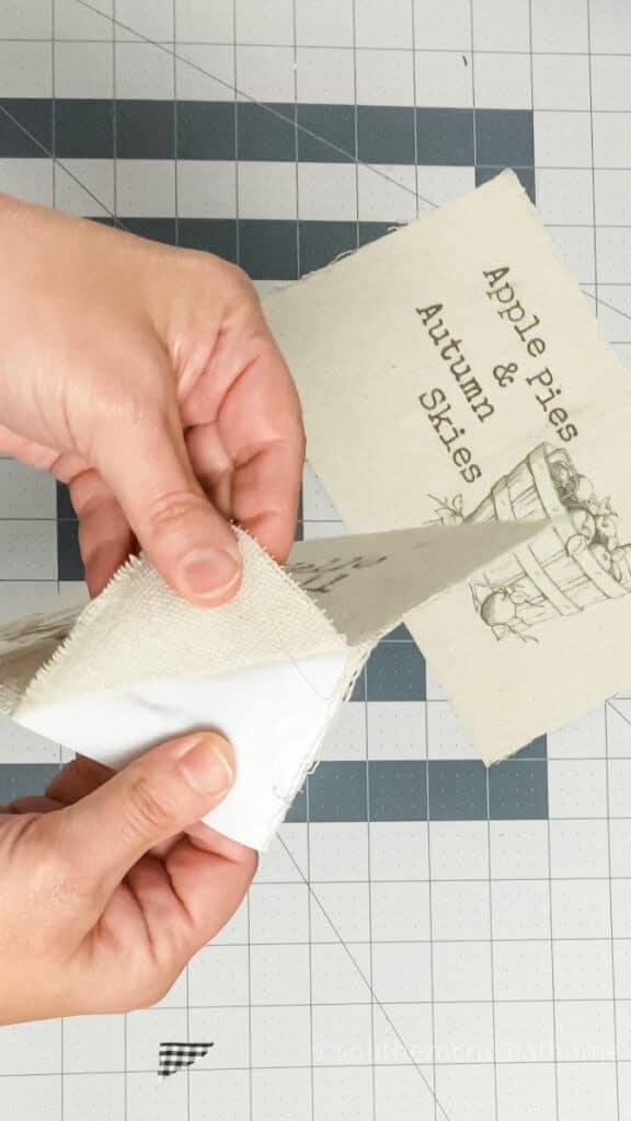 drop cloth decor fraying edges