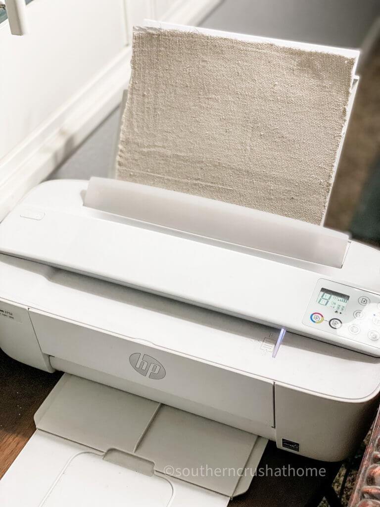 printing on drop cloth using inkjet printer