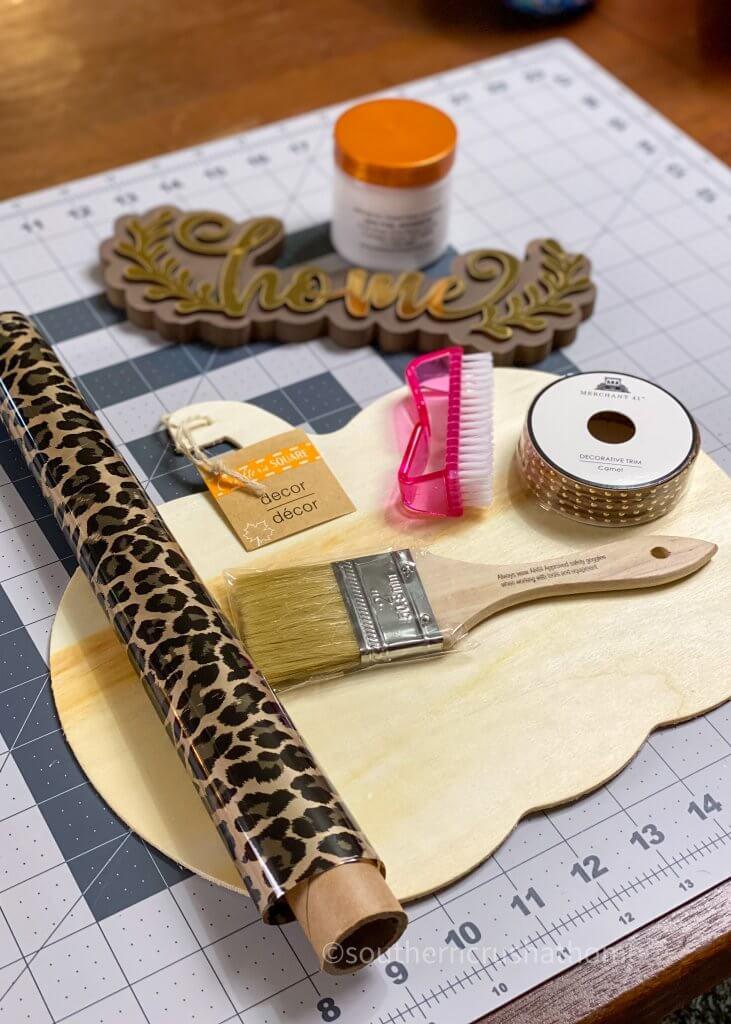 supplies for leopard foil pumpkin decor
