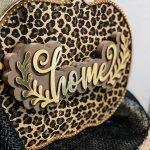 leopard foil pumpkin decor close up