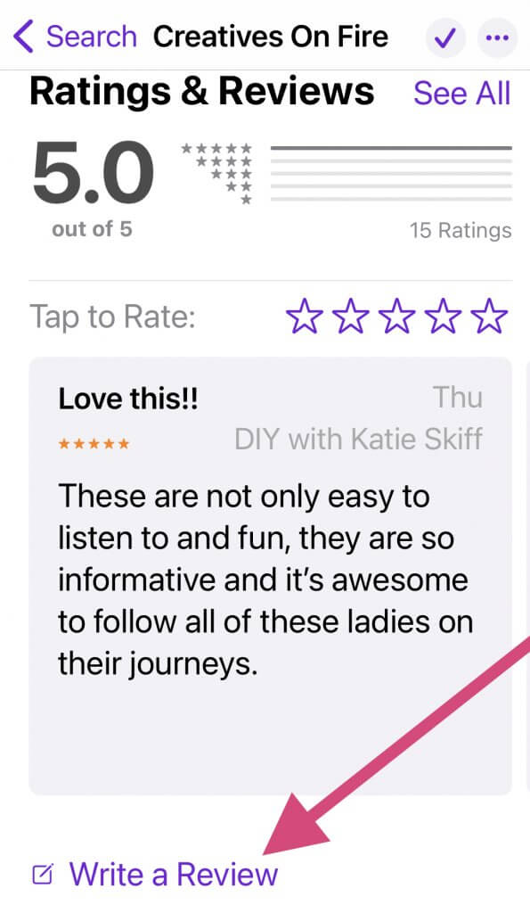 leave a podcast review