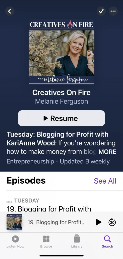 podcast episode page