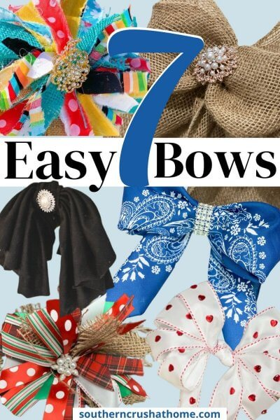 easy diy bows pin collage