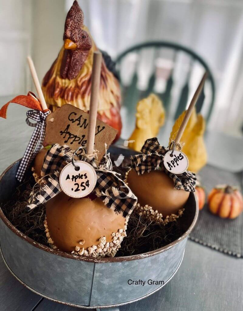 candy apples on counter