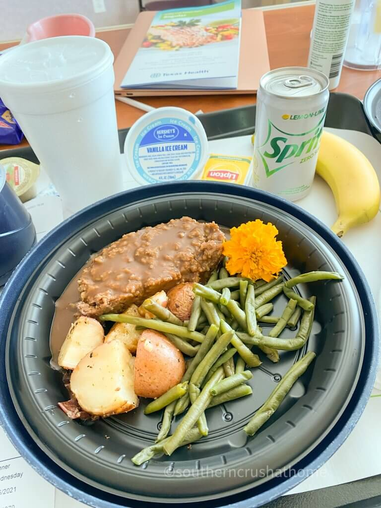 hospital meat and veggies