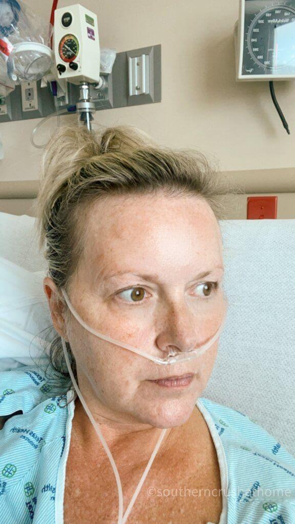 melanie ferguson in the hospital with CoVid 19