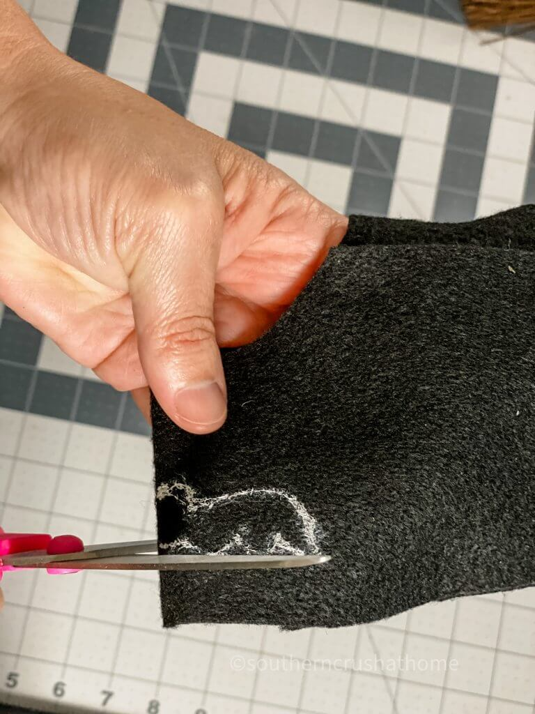 cutting bat shape from felt