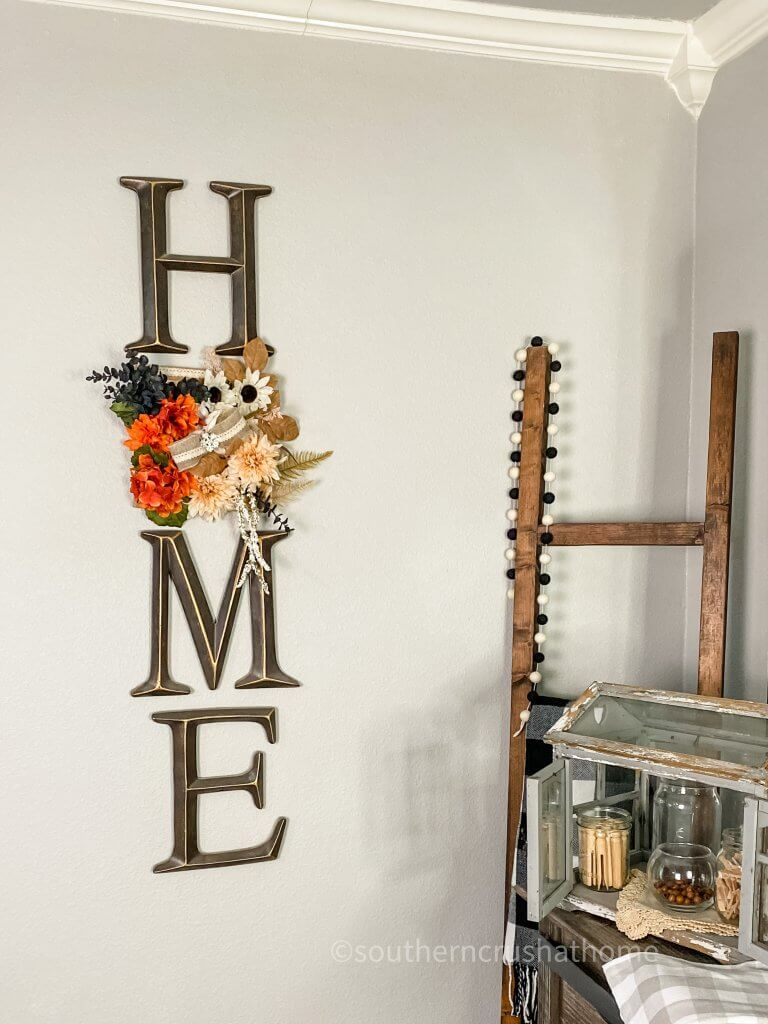 home burlap canvas on wall