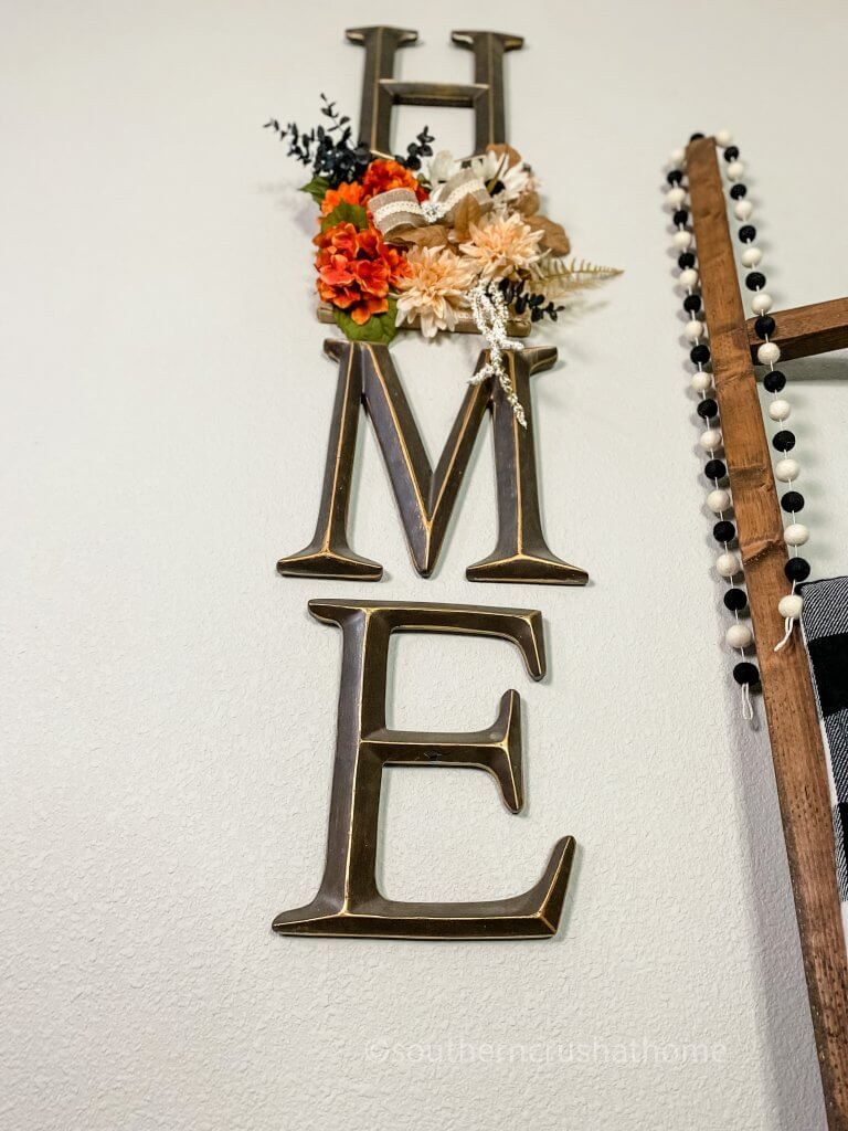 close up of home sign