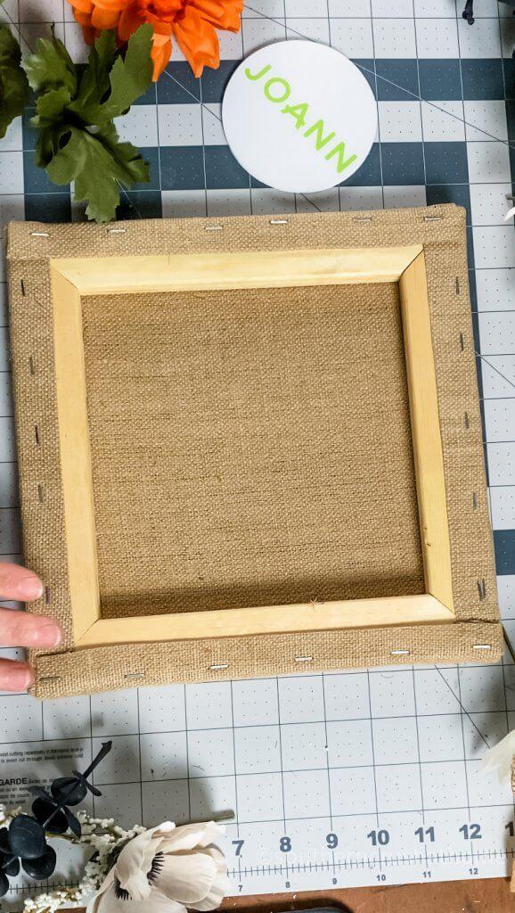 supplies for burlap home canvas