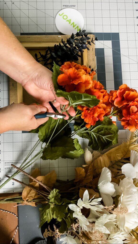 cutting fall stems for home sign