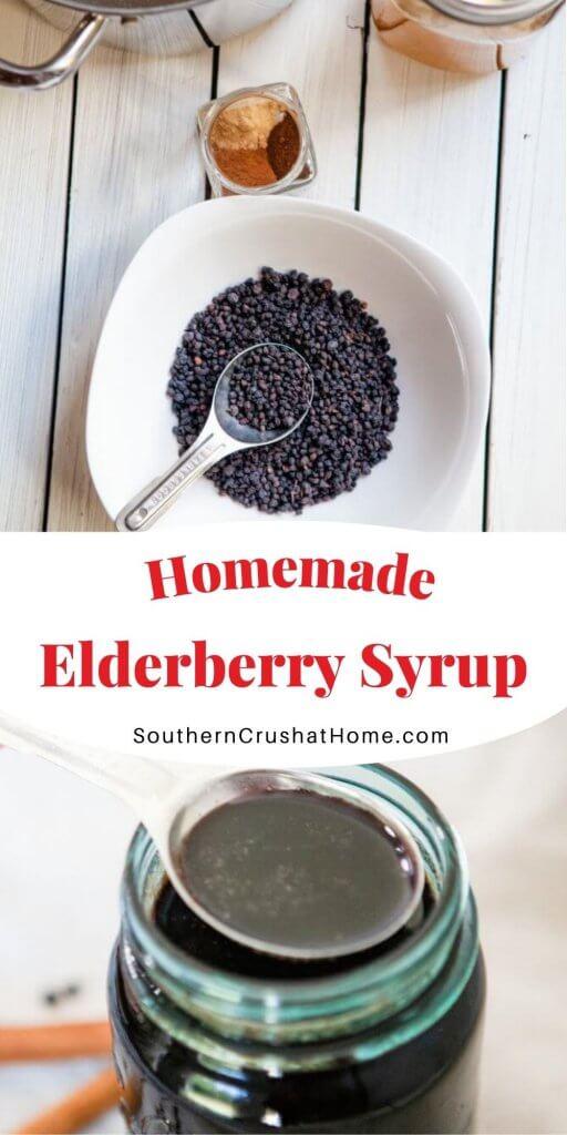 elderberry syrup in mason jar