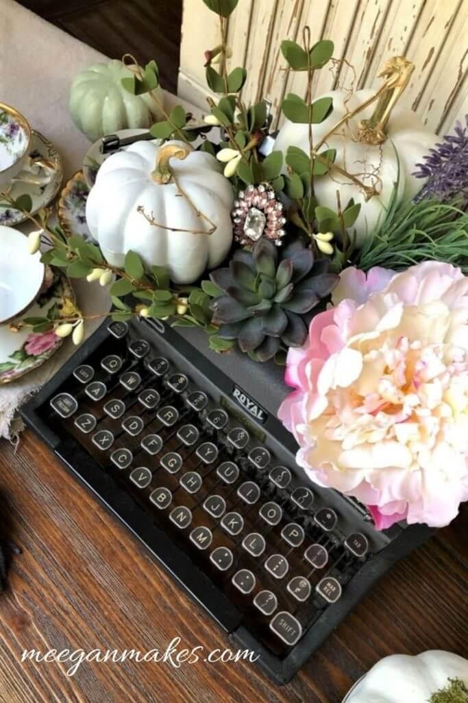 vintage typewriter makeover