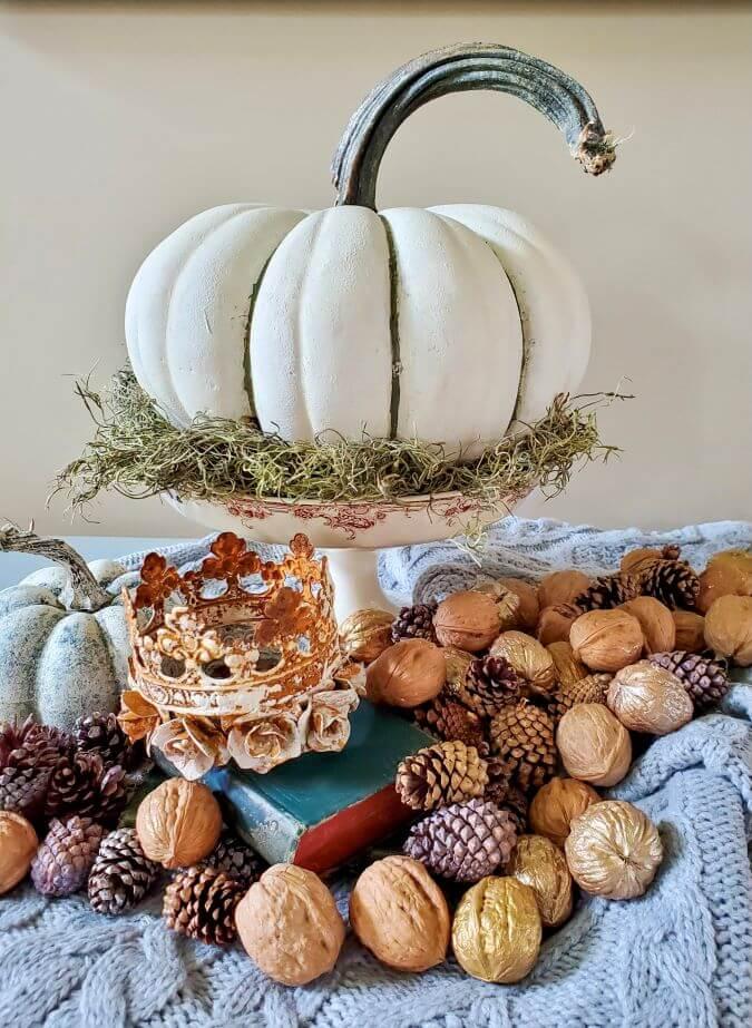 pumpkin fall centerpiece