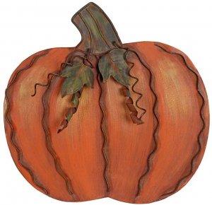 metal outdoor pumpkin