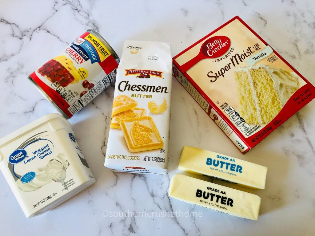 ingredients for cherry cheesecake dump cake