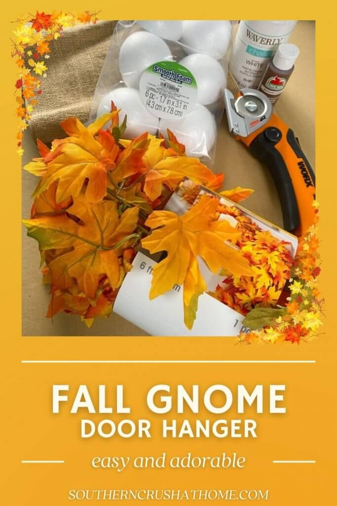 fall gnome pin with text